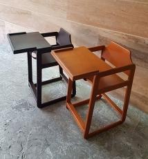 صندلی غذای کودک چوبی
